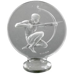 Rene Lalique Clear Glass 'Archer' Mascot