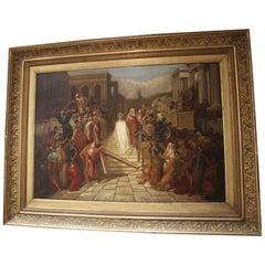 Resurrection of Jesus Signed Eugene Hindle, 1893 Painting