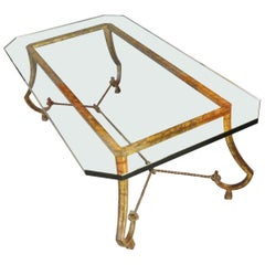 Gilt Iron Coffee Table by Maison Ramsay, 1950s