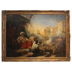 19th Century, Mohammed Ali's Massacre of the Marmelukes at Cairo Painting