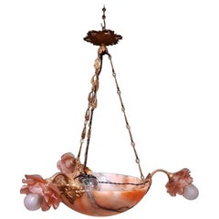 Early 20th Century French Alabaster Chandelier