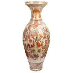 "Monumental 19th Century Satsuma Vase 56""(143cm)"