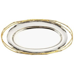 Bamboo Gold Tray Gold-Plated 24-Karat