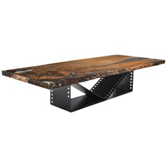 Film Roll Kauri Dining Table in Solid Kauri Wood