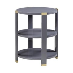 Storm Grey Lacquered Side Table