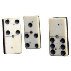 Bone and Ebony Carved Domino's Game Set, circa 1880