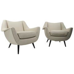 Pair of Oversized Lounge Chairs by Lawrence Peabody for Selig
