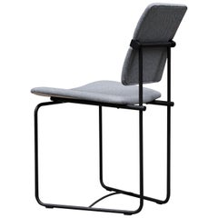 Peter Ghyczy Contemporary Chair Urban S02 Charcoal, Grey Fabric, Handmade