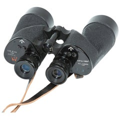 Wwii Binoculars by R.E.L. of Canada, with Original Leather Case