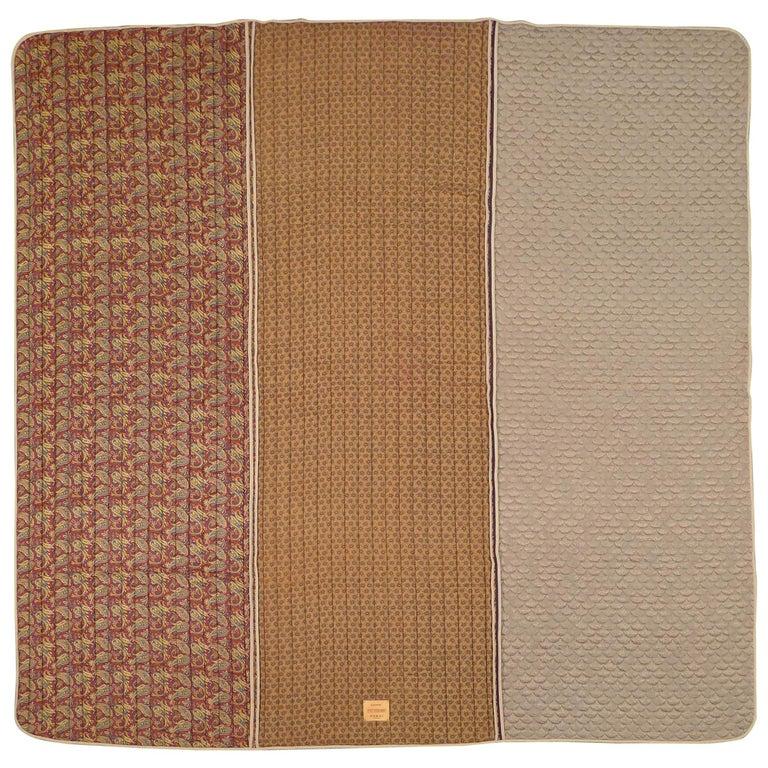 Piet Hein Eek Italian Silk Quilt Blanket For Sale