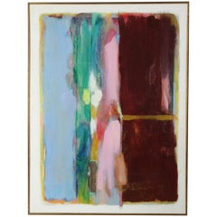 Large Mid-20th Century Oil on Canvas Abstract Painting