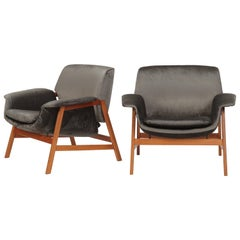 Two 849 Armchairs by Gianfranco Frattini for Cassina
