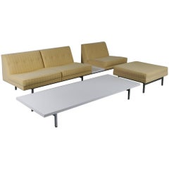 George Nelson Sofa, Ottoman and Coffee Table for Herman Miller, USA, 1960