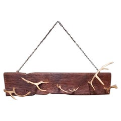 Second Half of the 20th Century Wall Coat Rack Made of Antlers