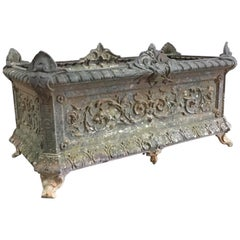 Large 19th Century French Cast Iron 'Deville Charleville' Jardinere