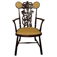1902 Edward VII Mahogany Coronation Throne Chair