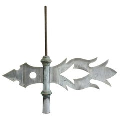 19th Century French Flame Weather Vane
