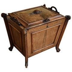 19th Century Victorian Burr Walnut Credenza / Sideboard / Bookcase