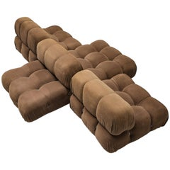 Mario Bellini Camaleonda Sofa in Original Brown Fabric