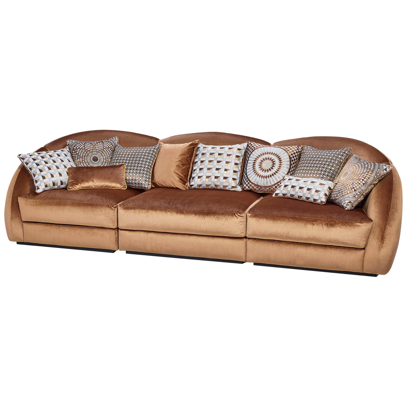 Beautiful Sofa Frame Made of Solid Timber and  Wood Down Feather Loose Pillows