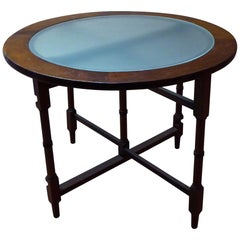 1940s Glass Top Coffee or Occasional Table