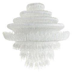 "Jacopo Foggini Contemporary Model ""Sneeze A"" Italian White Suspension Lamp"