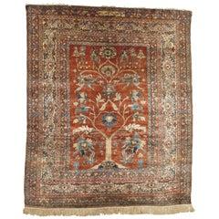 Persian Silk Heriz Carpet, circa 1870