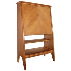 French Junior Oak Secretary by Roger Landault for ABC Furniture, 1950s