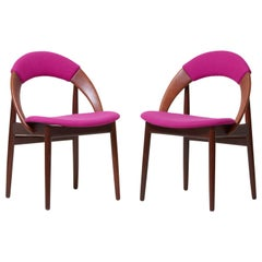 Pair of Rare Dining Chairs in Teak by Arne Hovmand Olsen