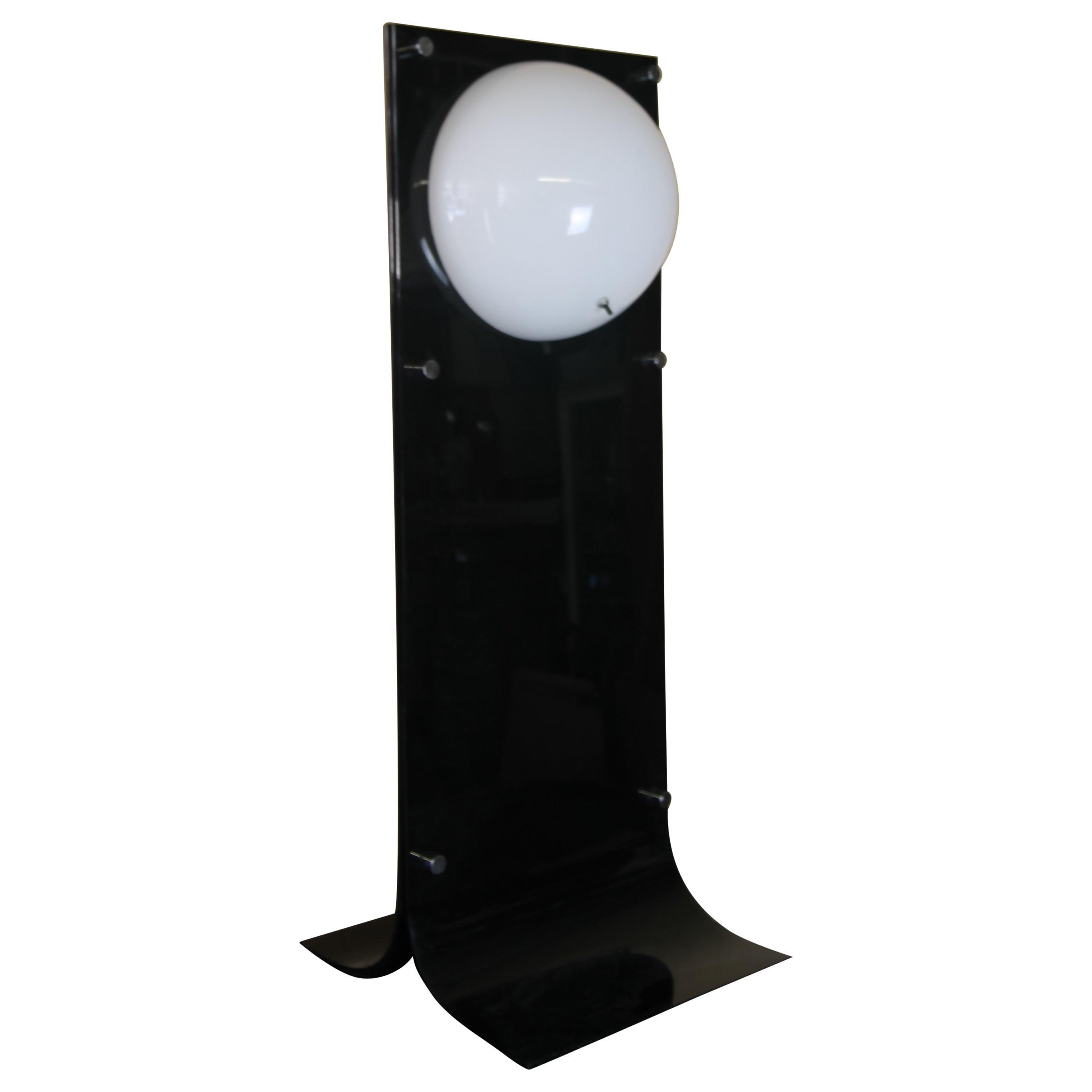 Neal Small Black Acrylic Lamp
