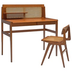Roger Landault Writing Table with Chair, 1960s