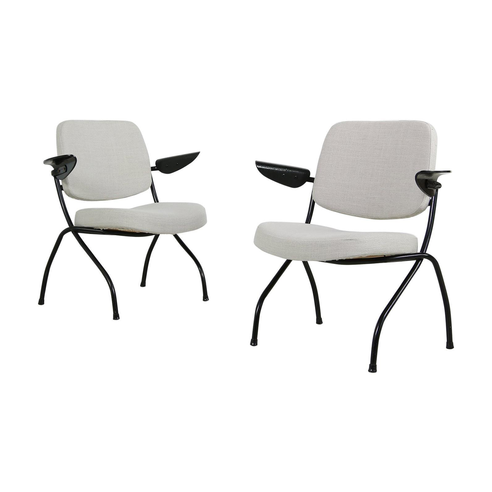 Pair of 1950s Ilmari Tapiovaara Scandinavian Organic Lounge Chairs, Midcentury