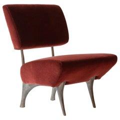 Twig Lounge Chair, Patinated Cast Aluminum & Mohair, Jordan Mozer, USA 1997-2015