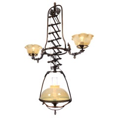 Rare Mitchell Vance Scissor Gas Lamp