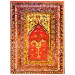 Wonderful Early 20th Century Turkish Prayer Rug