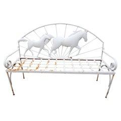 Vintage Horse Bench