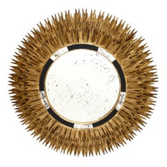 Large Vintage Spanish Sunburst Mirror