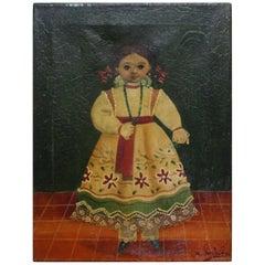 Agapito Labios Mexican 1898-1996 Oil on Canvas Folk Art