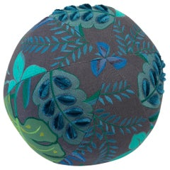 Tropical Embroidery Ball Pillow