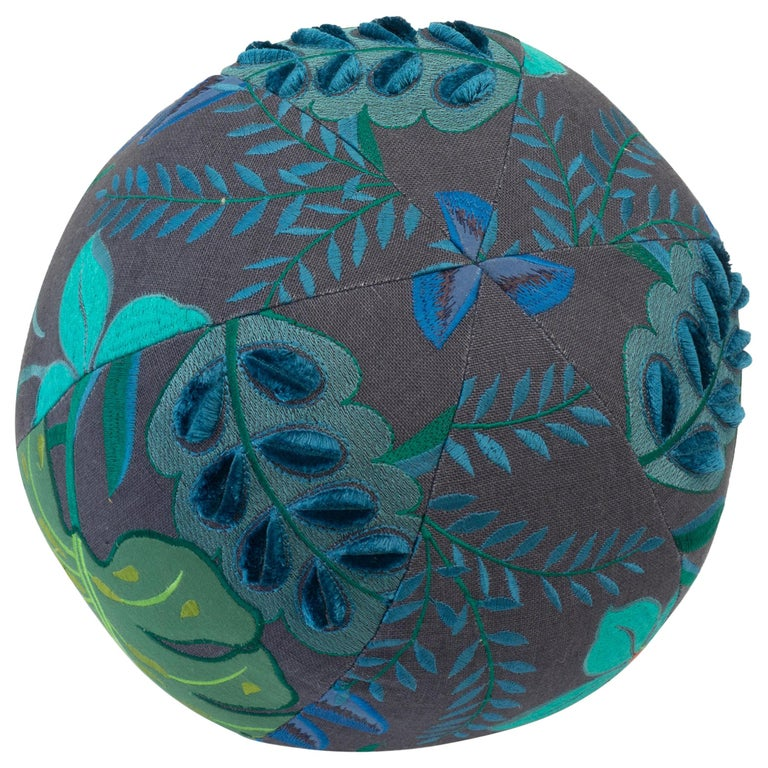 Tropical Embroidery Ball Pillow For Sale