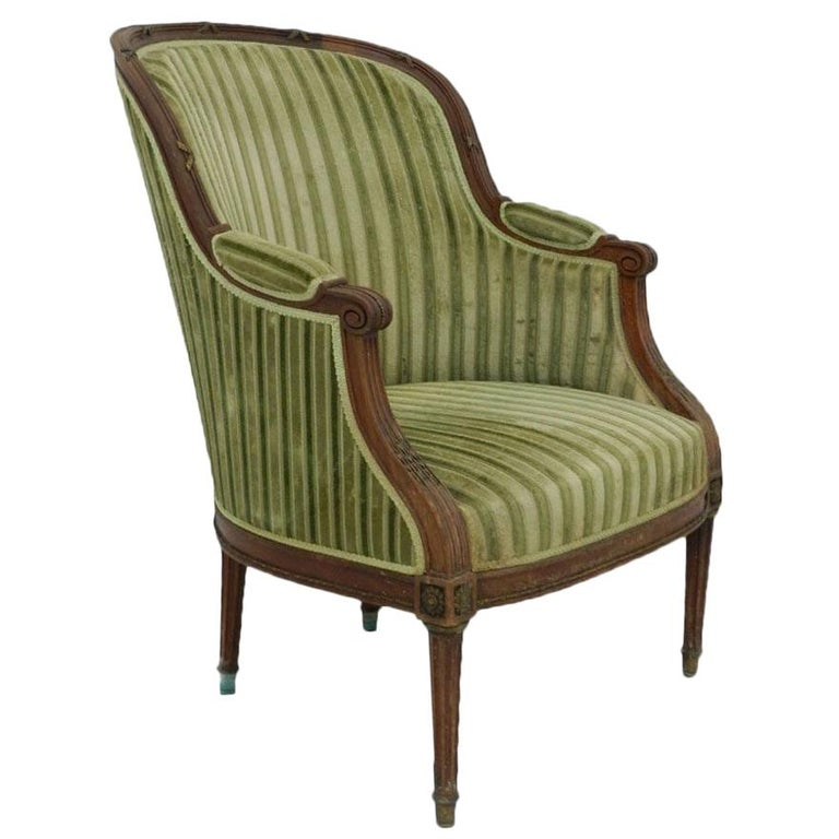 French 19th Century Bergere Armchair Includes Recovering ...
