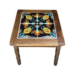 20th Century Mission Style Painted Top Side Table