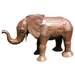 Metal Oxidized Elephant Sculpture