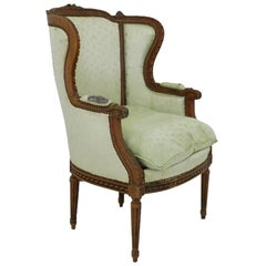 French Bergere Armchair 19th Century Louis XVI Includes Recovering