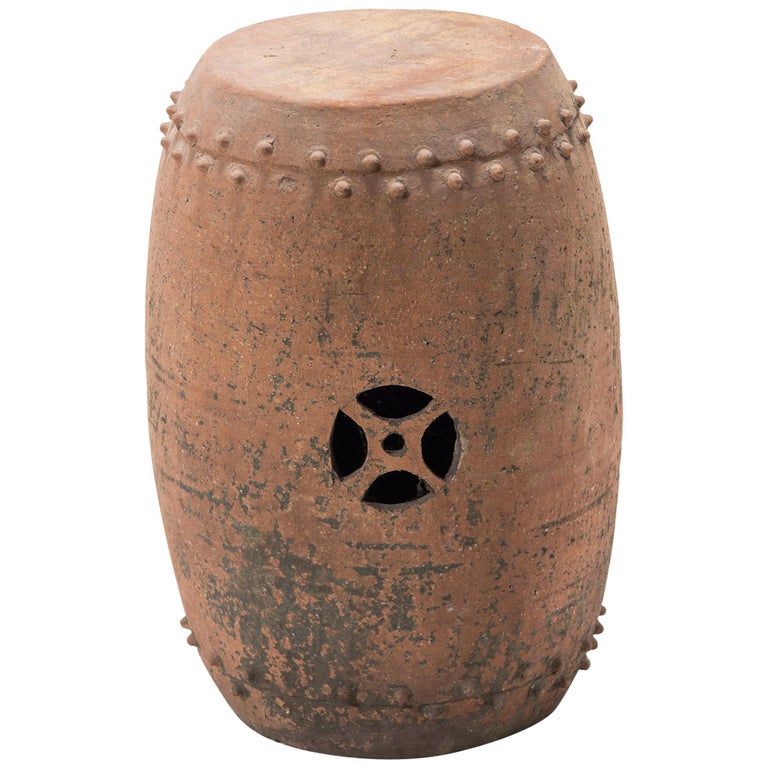 Early 20th Century Chinese Pingyao Garden Drum For Sale