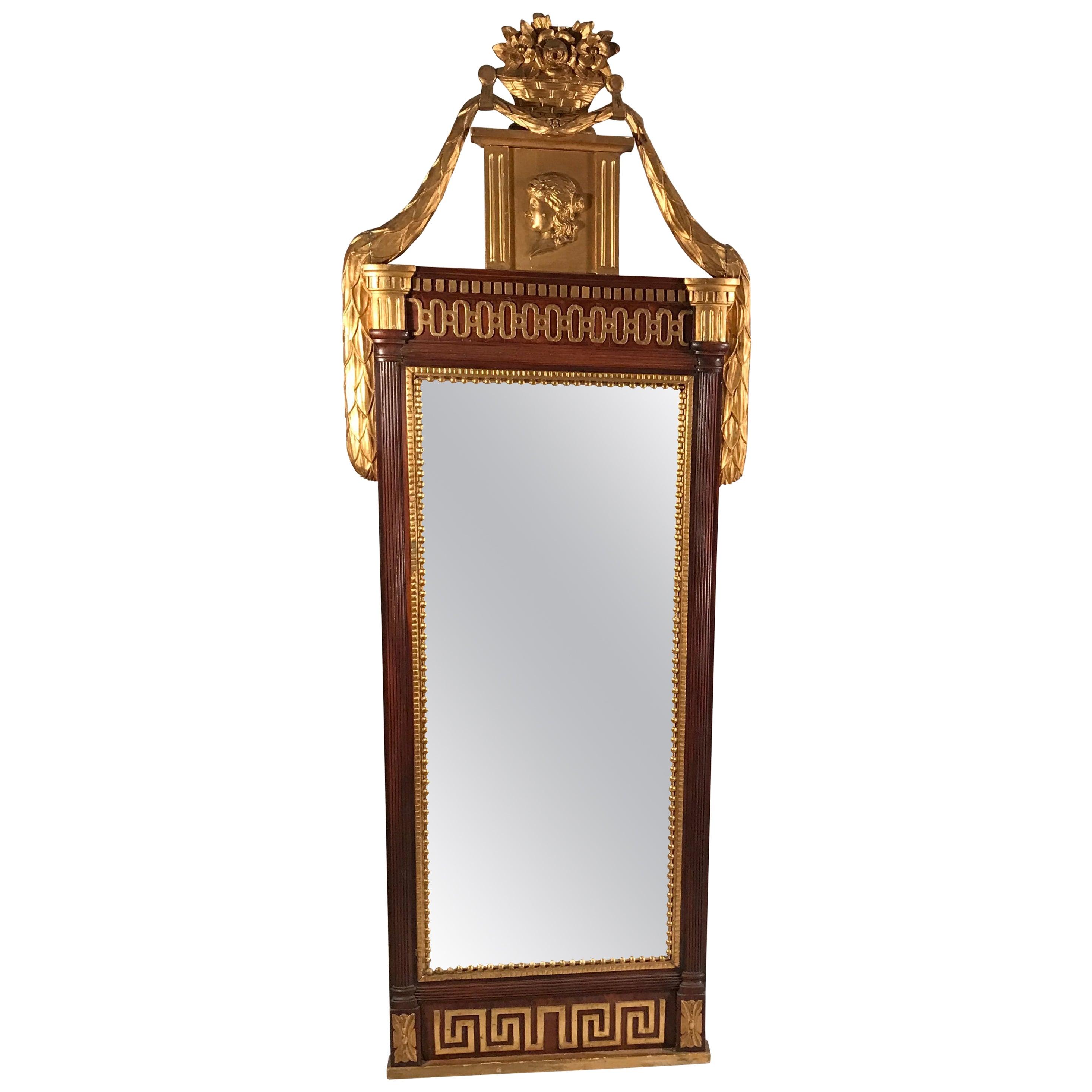 18th Century Gustavian Mirror, Sweden 1780