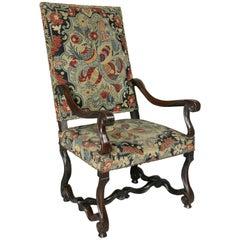 Louis XIV Walnut And Needlepoint Armchair