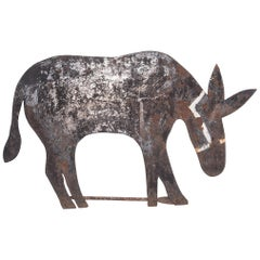 Folk Metal-Cut Donkey Weathervane