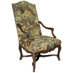Regence Walnut and Tapestry Armchair