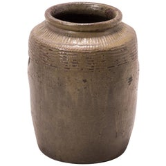 Early 20th Century Chinese Glazed Pickling Pot